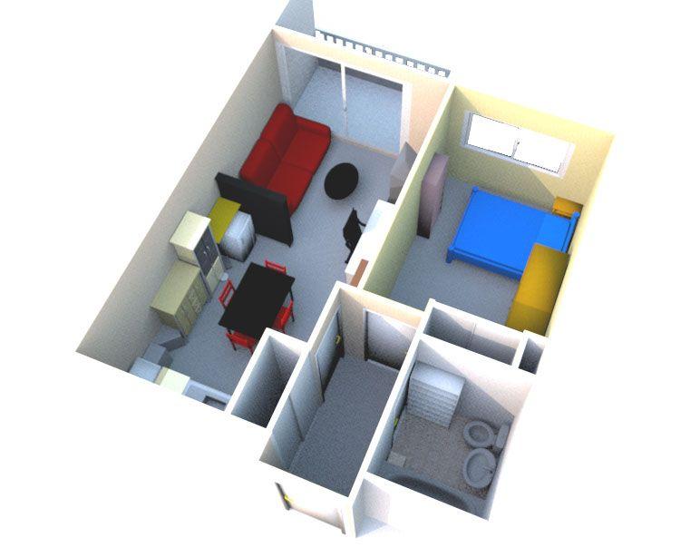 Modélisation De Mon Ancien Appartement Réalisée Avec Le Logiciel
