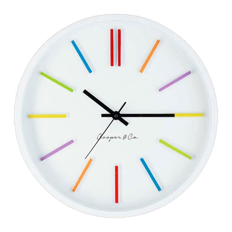 Cooper Co Rainbow Clock Multicoloured 35 Cm Clock Wall Clock Multicolour