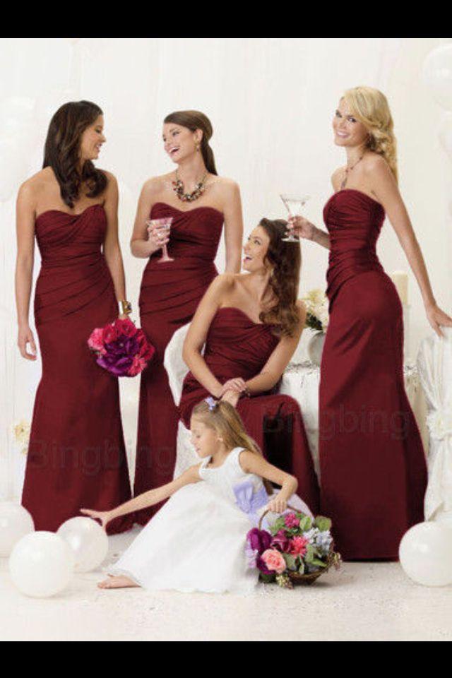 f3f98321b0 Burgundy bridesmaid dresses -ebay