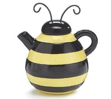 honey bee kitchen decor | Adorable Bumble Bee Teapot CHECK PRICE ...