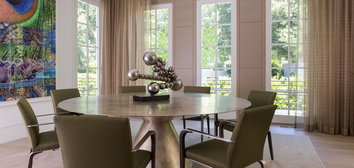 Perry Luxe Luxury Sculpted Steel Furniture And Window Coverings