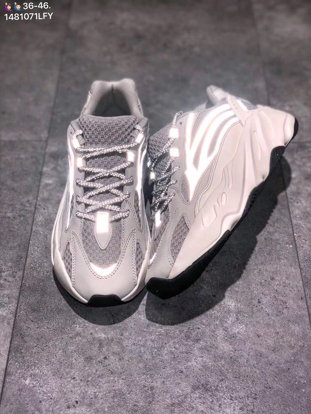 dfbdbe78a5ba1 Adidas yeezy boost 700 V2 static reflective sneakers woman man couple shoes
