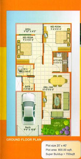 Image Result For House Plan 20 X 50 Sq Ft 20x40 House Plans Duplex House Plans House Plans With Pictures