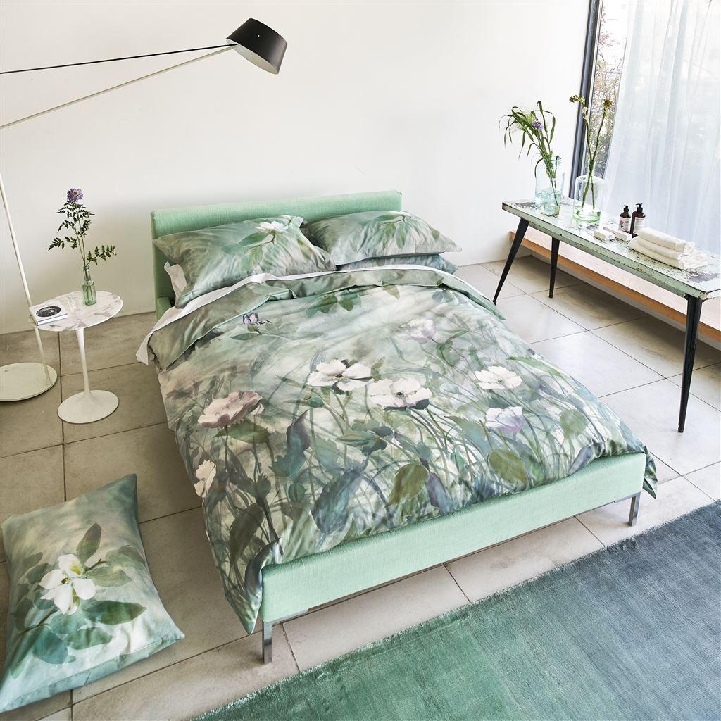 Emilie Emerald Floral Green Bed Linen