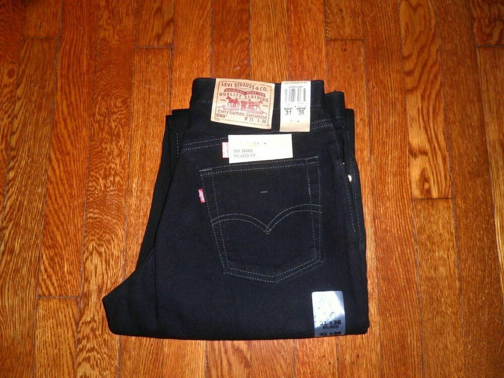 6b8de81bbdf LEVIS VINTAGE 550-0260 MADE IN USA IN 1990 RELAXED TAPERED FIT BLACK JEANS  31x36 | eBay