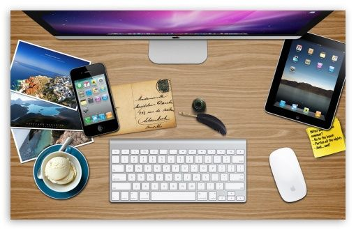 Apple Desk Hd Apple Wallpapers Computer Apple Office