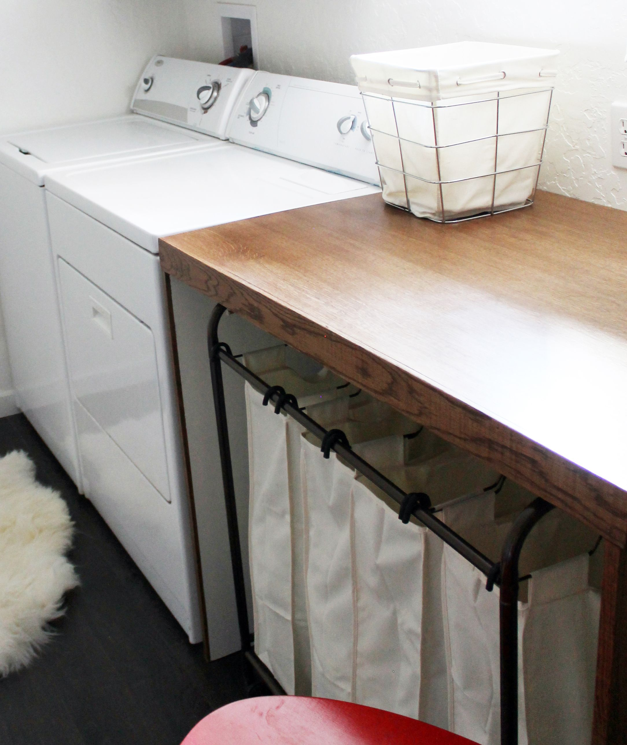 Before and After Pugmire Laundry Room
