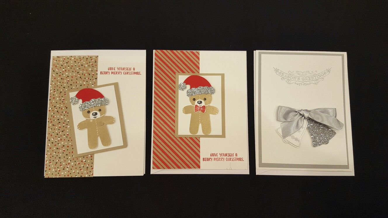 2016 Christmas Cards #creativeowlcrafting #stampinup