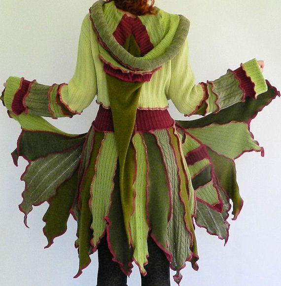 fReSh LeTTuCe  Short Faerie elf  pixy coat  door CaTcHiNgDrAgOnFLiEs