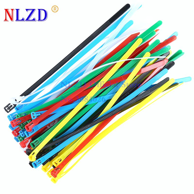 250mm Reusable Plastic Nylon Cable ties 10inches Computer Cable Wire ...