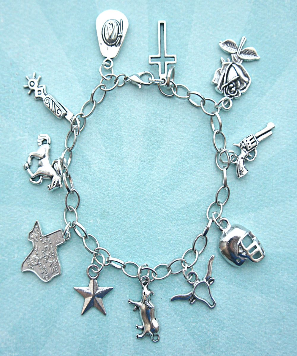 Texan Texas Charm Bracelet Jillicious Charms And Accessories 1