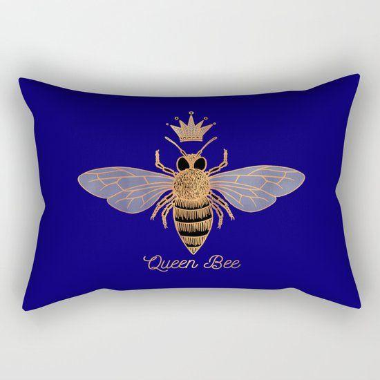 Queen Bee - Rectangular Pillow by Olooriel on Society6 | #queenbee #rectangularpillow #rectangularpillows #pillow #pillows #throwpillow #throwpillows #society6 #homedecor #bedroom