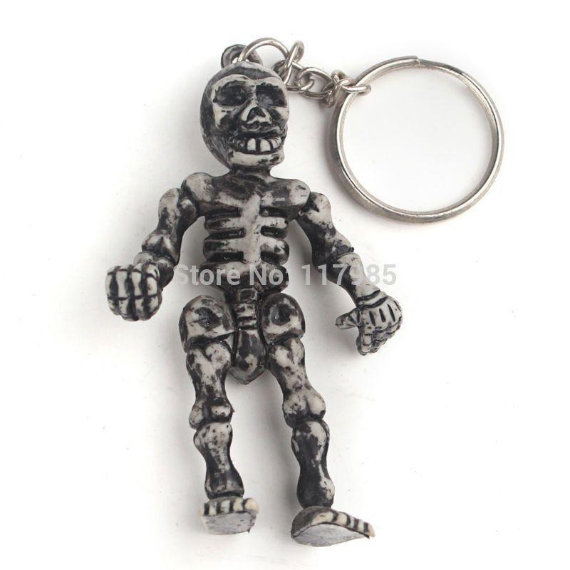 Motorcycle Bicycle Skull Key Chain Ring Keychain Keyring Key Fob