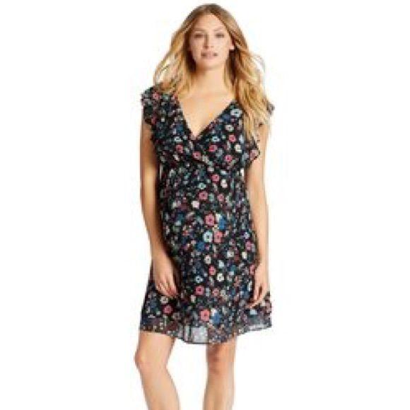 e4e79a2c6e Jessica Simpson Smocked Waist Maternity Dress