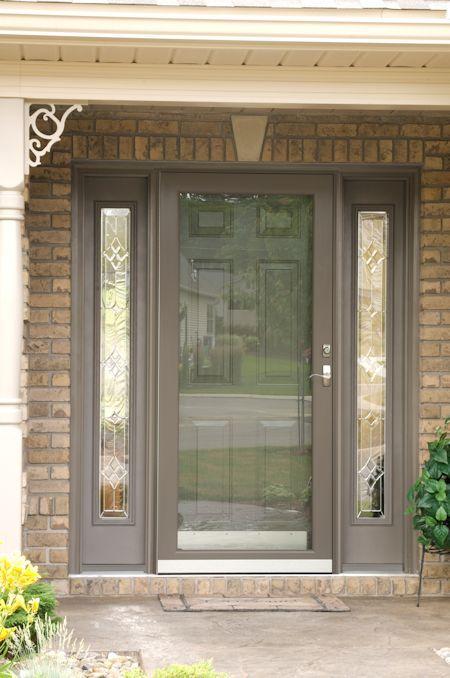 Fullview Storm Door With Interchangeable Glass And Screen Panels