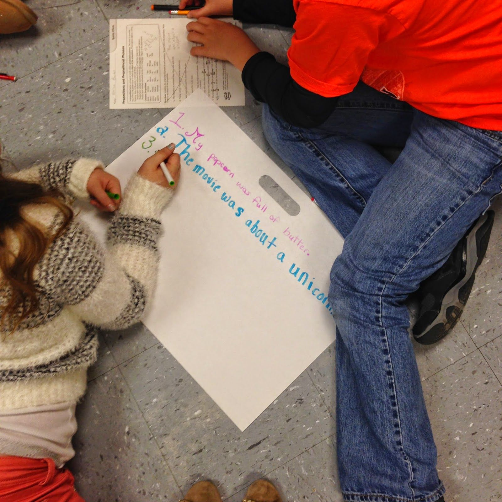 Life In Fifth Grade Prepositional Phrases Activity