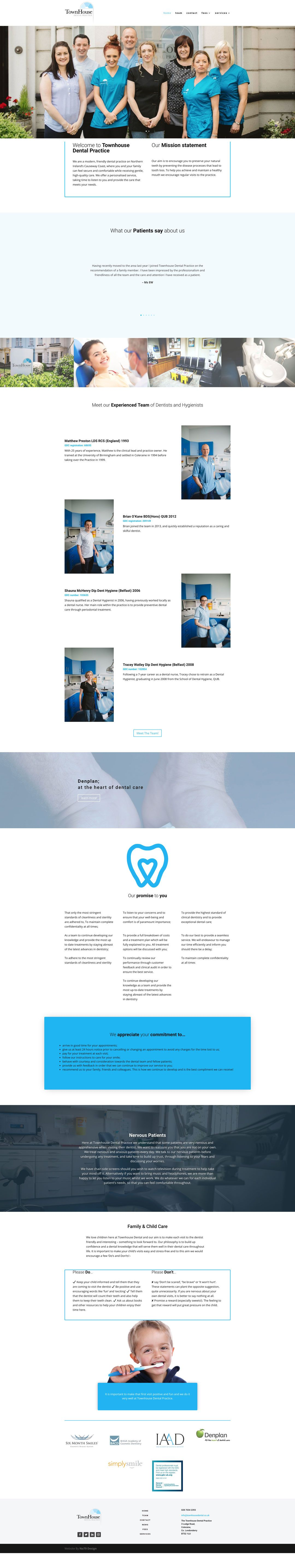 Pin By No79 Design On Homepage Layouts Dental Practice Homepage Layout Digital Design