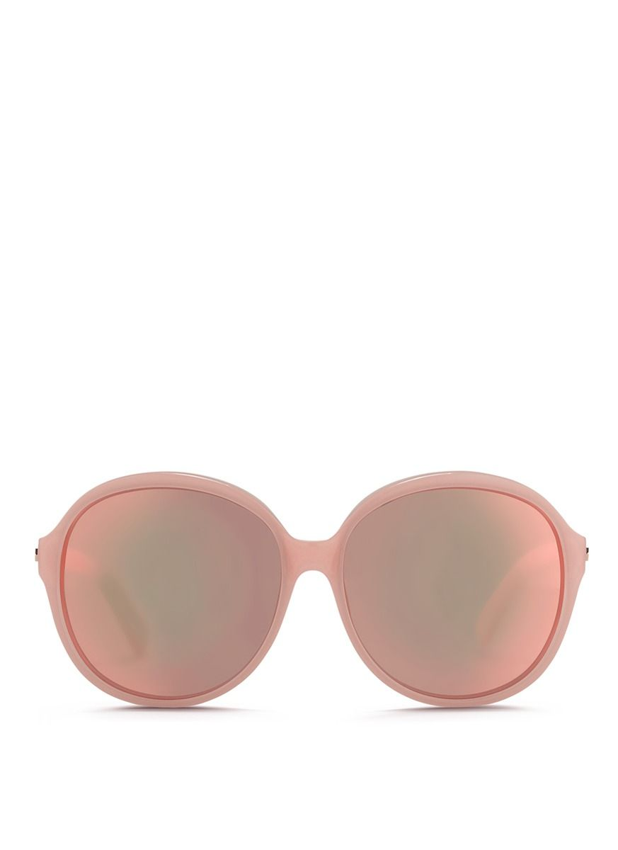 586274733e22 MATTHEW WILLIAMSON x Linda Farrow acetate oversize round mirror sunglasses