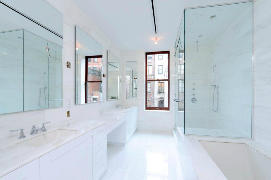 Marble Bathroom With Awesome Design Ideas  White Marble Bathrooms Endearing Marble Bathroom Designs 2018