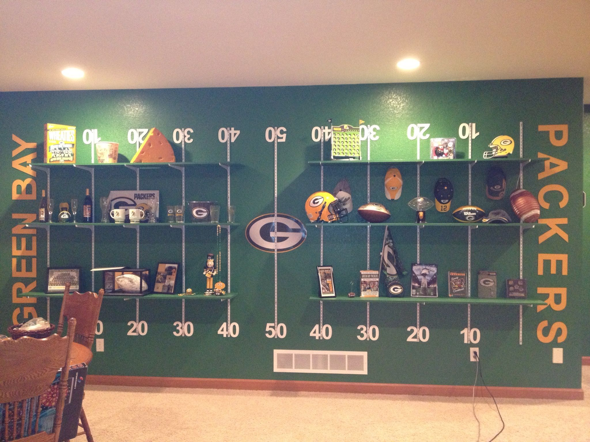 Green Bay Packers Man Cave Decor : Packers wall ideas pinterest walls and men cave