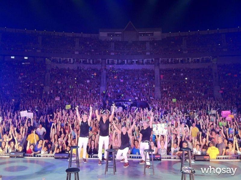 "James Maslow's, photo,""#WooHooJonesBeach1 pic! Sweaty show!!!"""