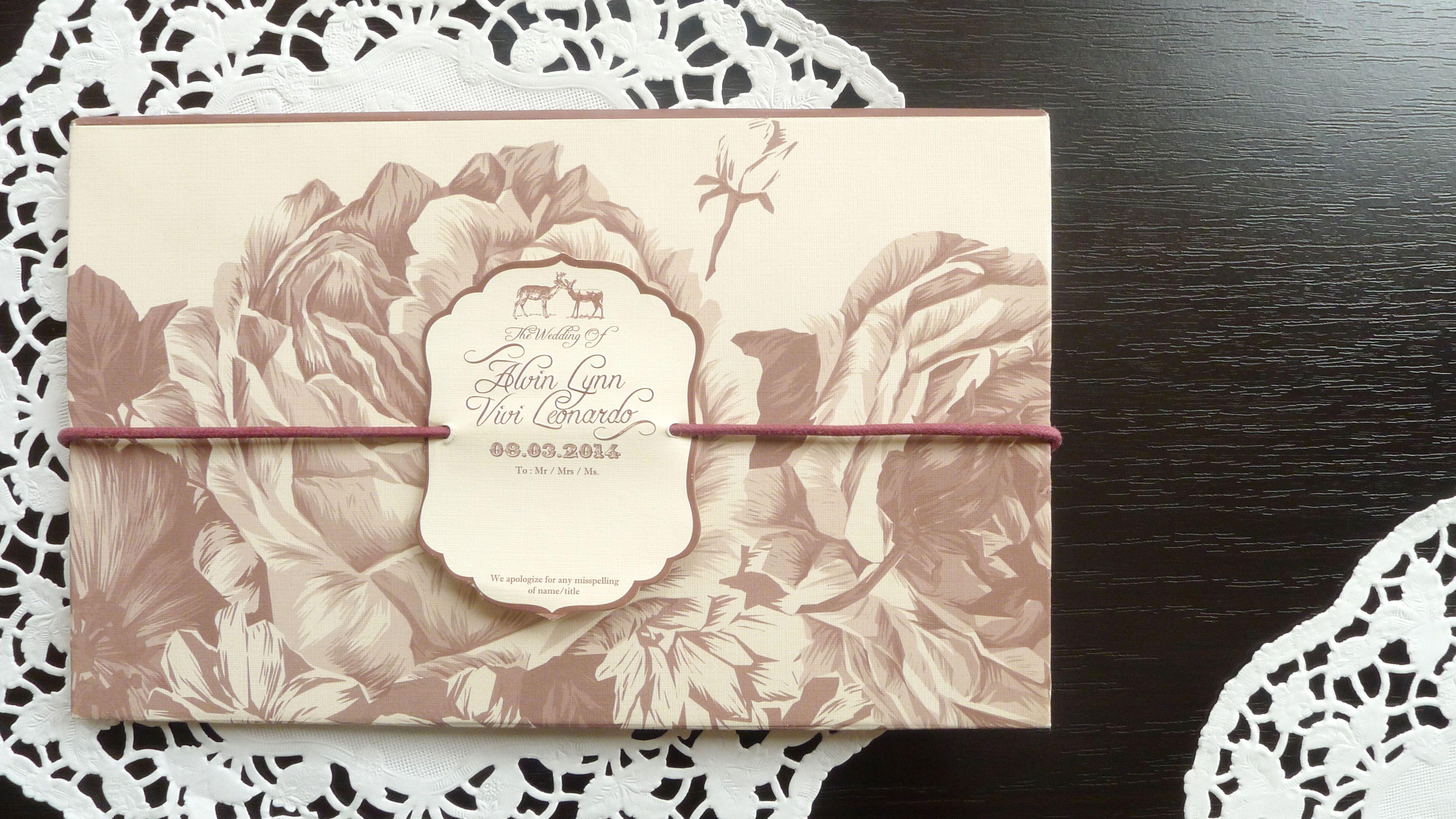 Simple Elegant Line Art : Undangan simple dan elegant pernikahan