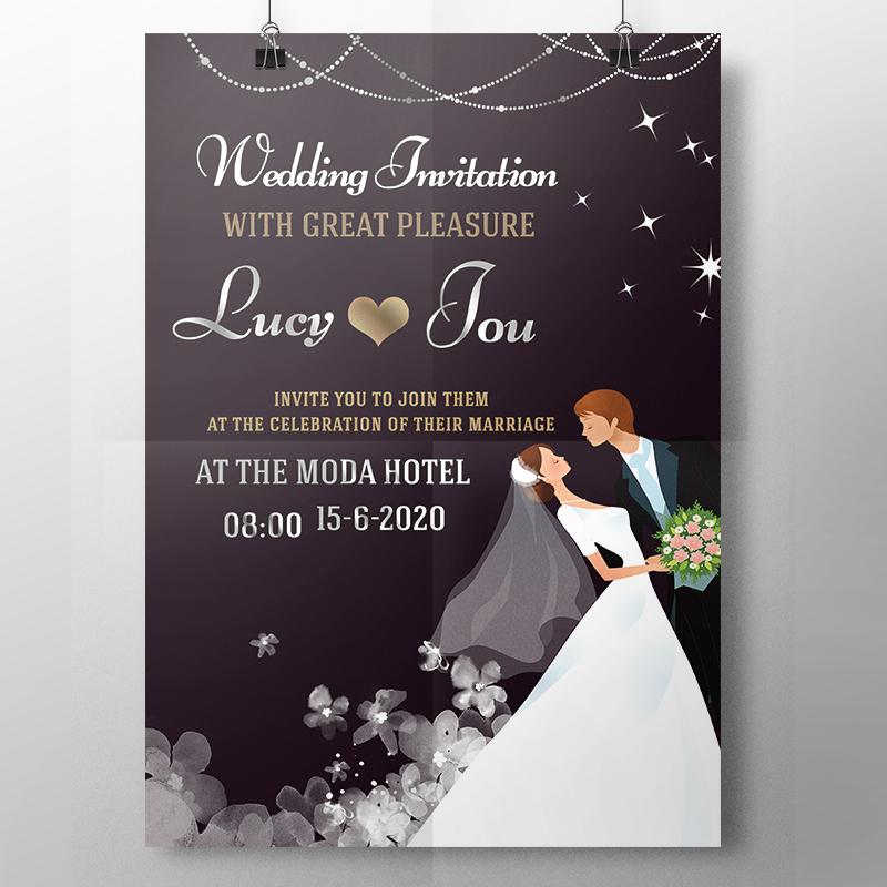 Wedding Invitation Video, GIF, Save date card, WhatsApp
