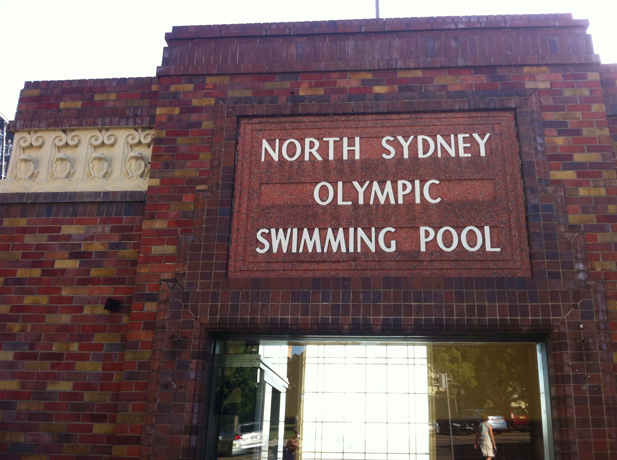 The entrance to the Pool with conserved features from its original creation in 1938.