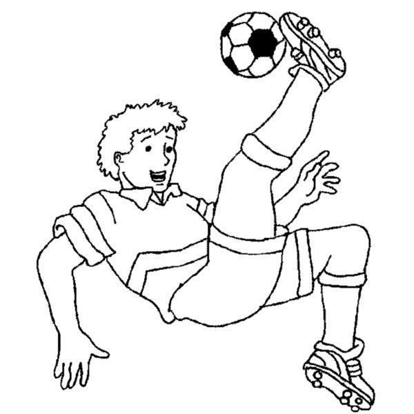 Disegni Da Colorare E Stampare Di Ronaldo Soccer Bicycle Kick