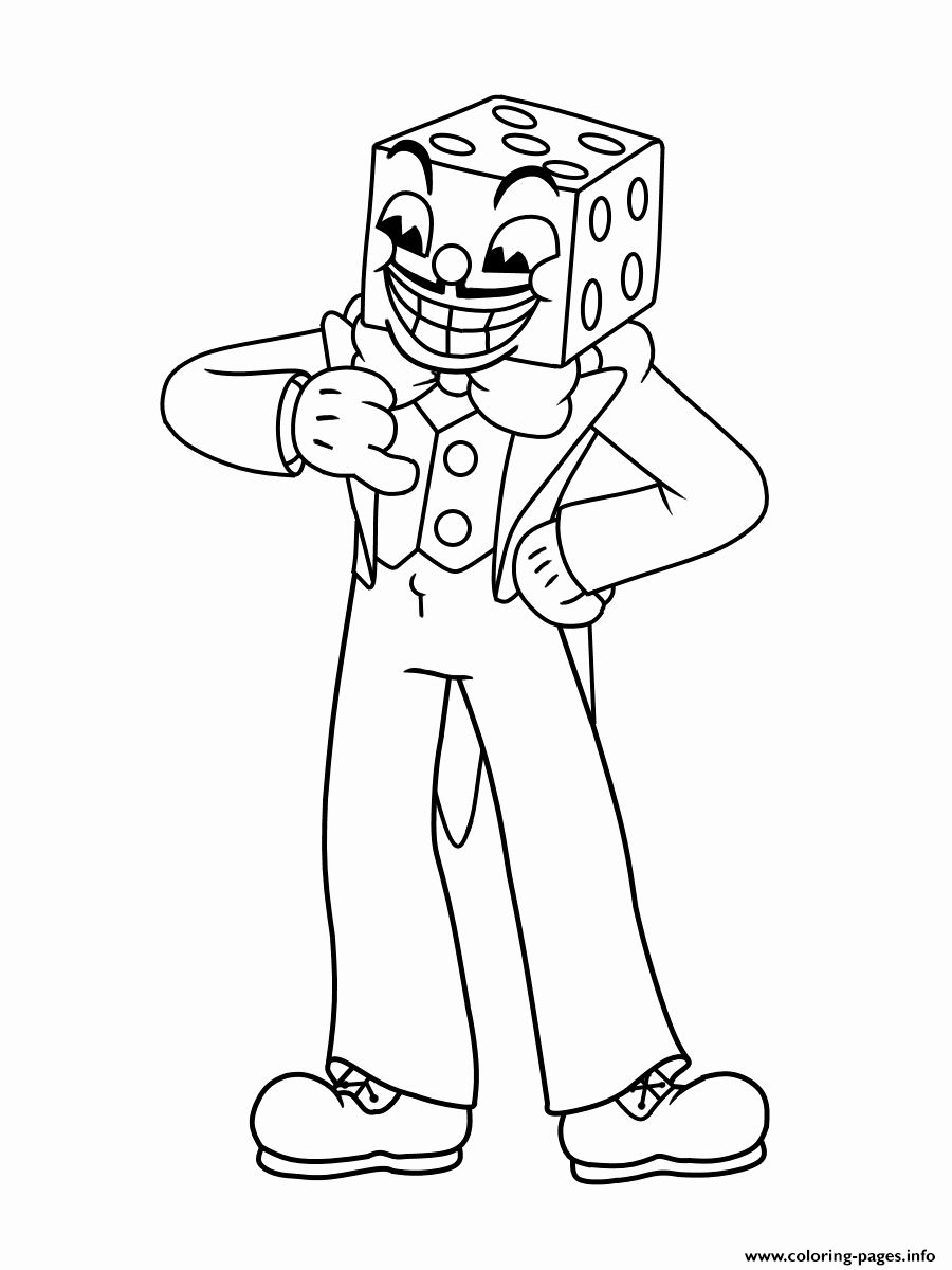 Painting Coloring Books Unique Cuphead King Dice Boss