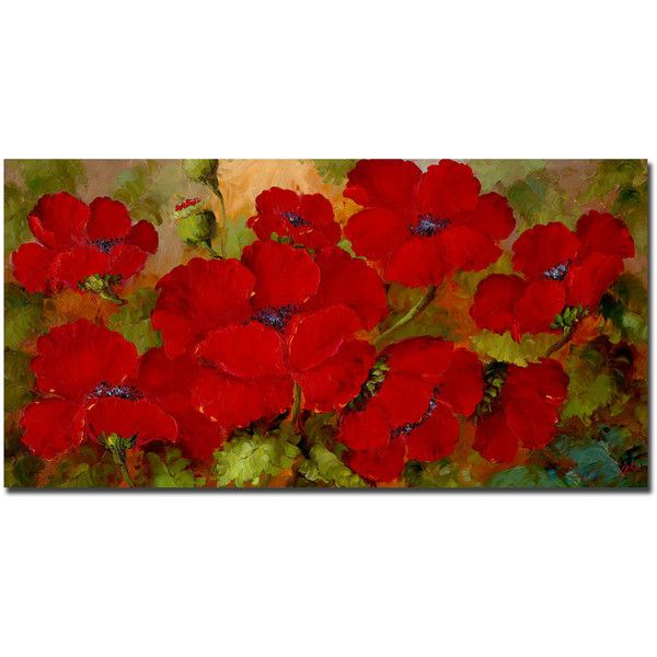 Poppies Canvas Wall Art ($144) ❤ liked on Polyvore featuring home ...