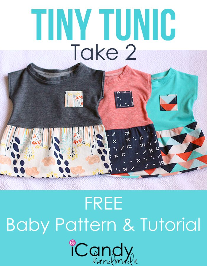 These Little Baby Tunics Are Impossibly Cute You Ll Find The Free Pattern And Tutorial Over At Ica Baby Clothes Patterns Diy Baby Clothes Baby Sewing Patterns