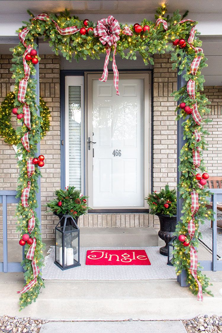 How to add Christmas Cheer to Your Front Door With