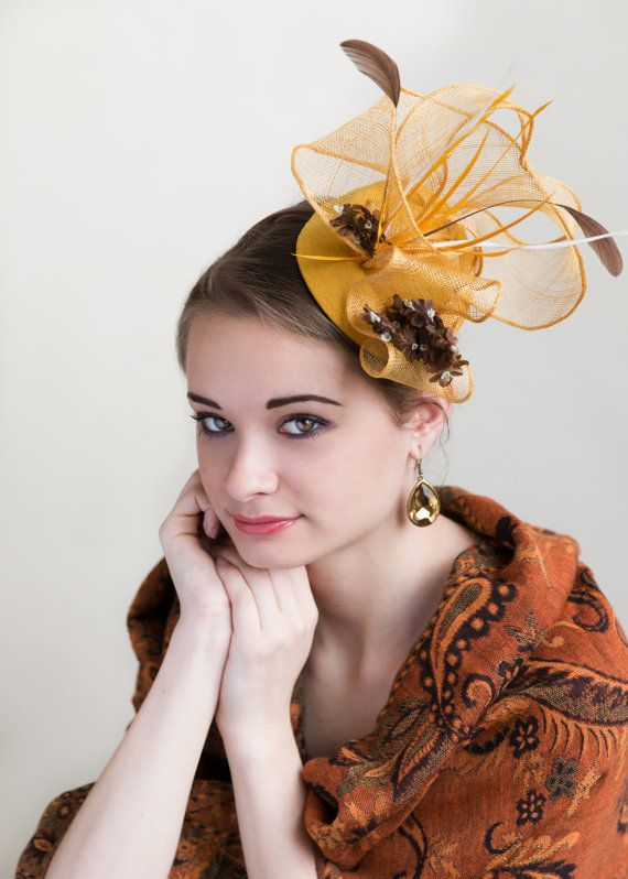 56dfc94f Yellow Fascinator Mustard by FascinatorsFirst | #GoingtotheRaces ...