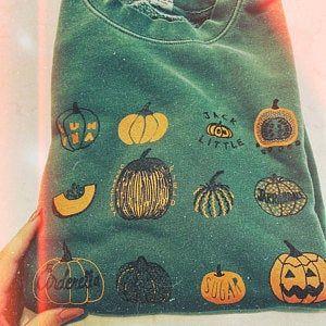 Pumpkin Sweatshirt, Halloween Sweatshirt, Screenpr