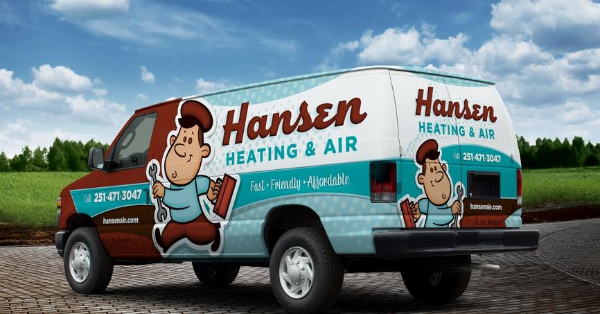 Retrothemed truck wrap design and fleet branding for a