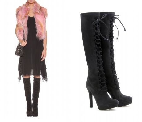 Miu Miu Leather Lace Up Boots CUQZ6D1X