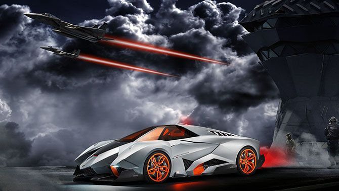 Superieur In Order To Celebrate The Companyu0027s Anniversary Lamborghini Introduces Lamborghini  Egoista, A Sports Car.