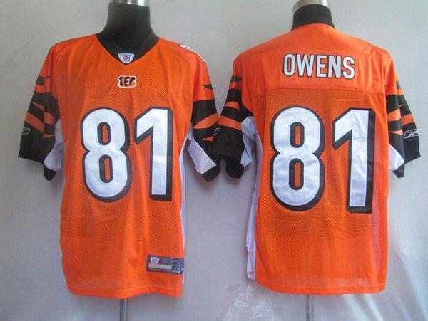 25.00 Reebok NFL Jersey Cincinnati Bengals Terrell Owens  81 Orange ... 7acf0375f