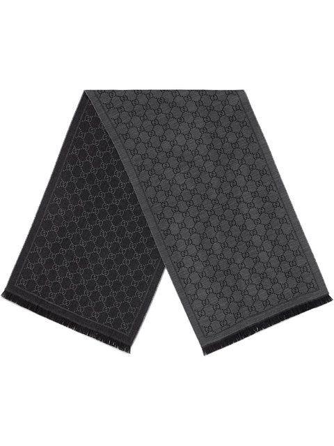 2881935132367 GUCCI GG jacquard pattern knit scarf.  gucci