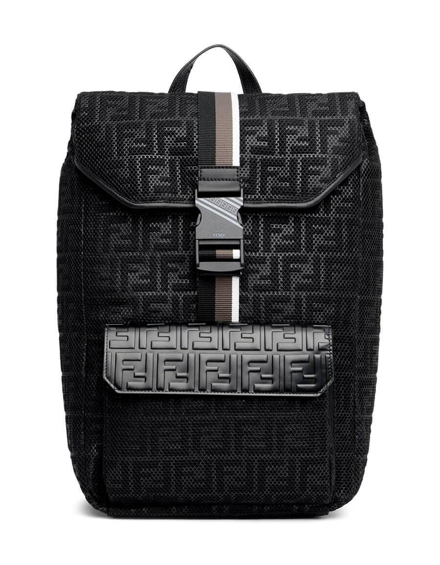 FENDI Black  Forever Fendi  Mesh Backpack in 2019  771d816fb7272