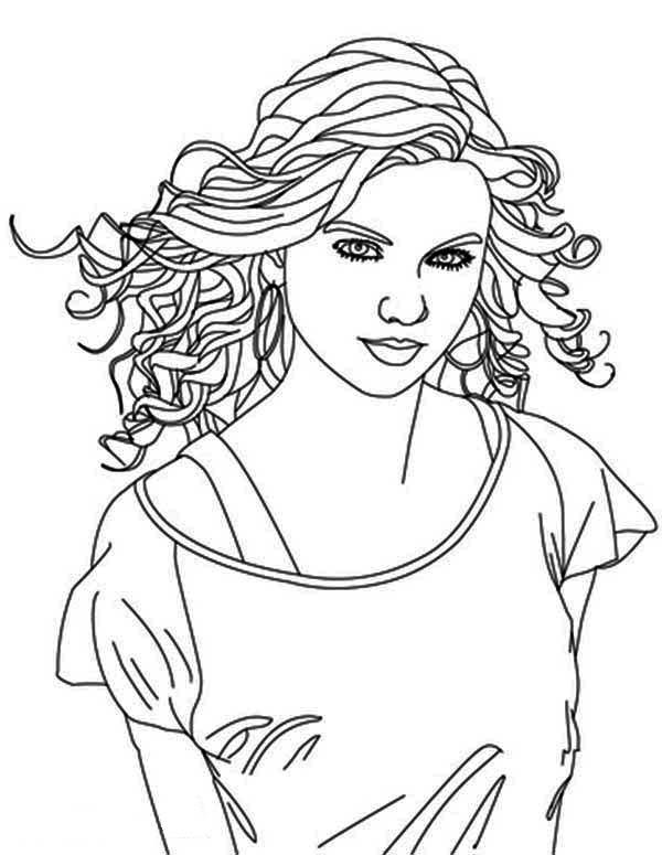 Taylor Swift Taylor Swift Is Country Singer Coloring Page