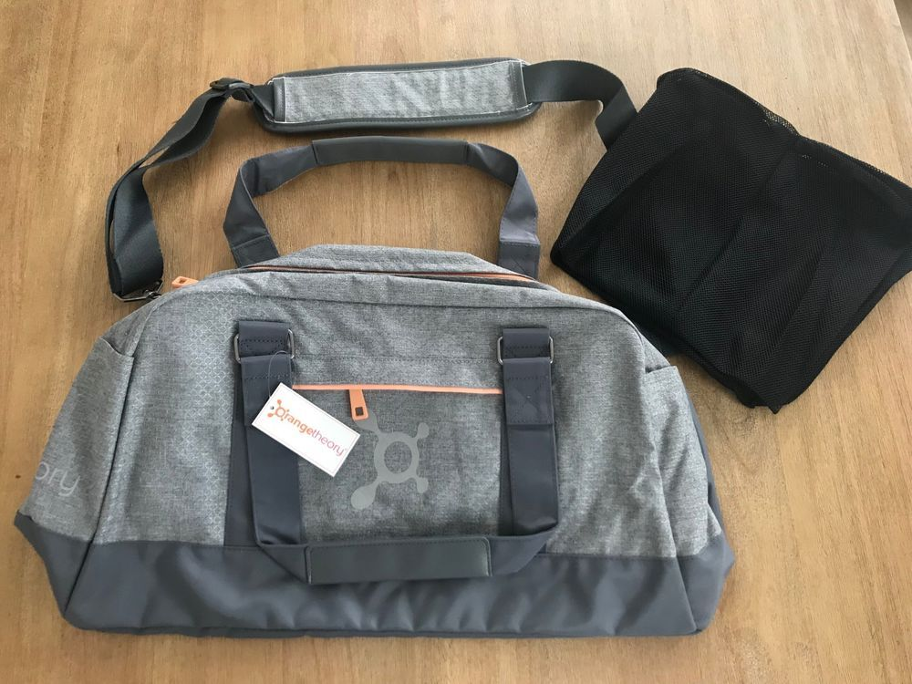 51596976f6cc Orangetheory Fitness OTF Duffel Bag NWT Light Gray Orange Retail  68 (eBay  Link)