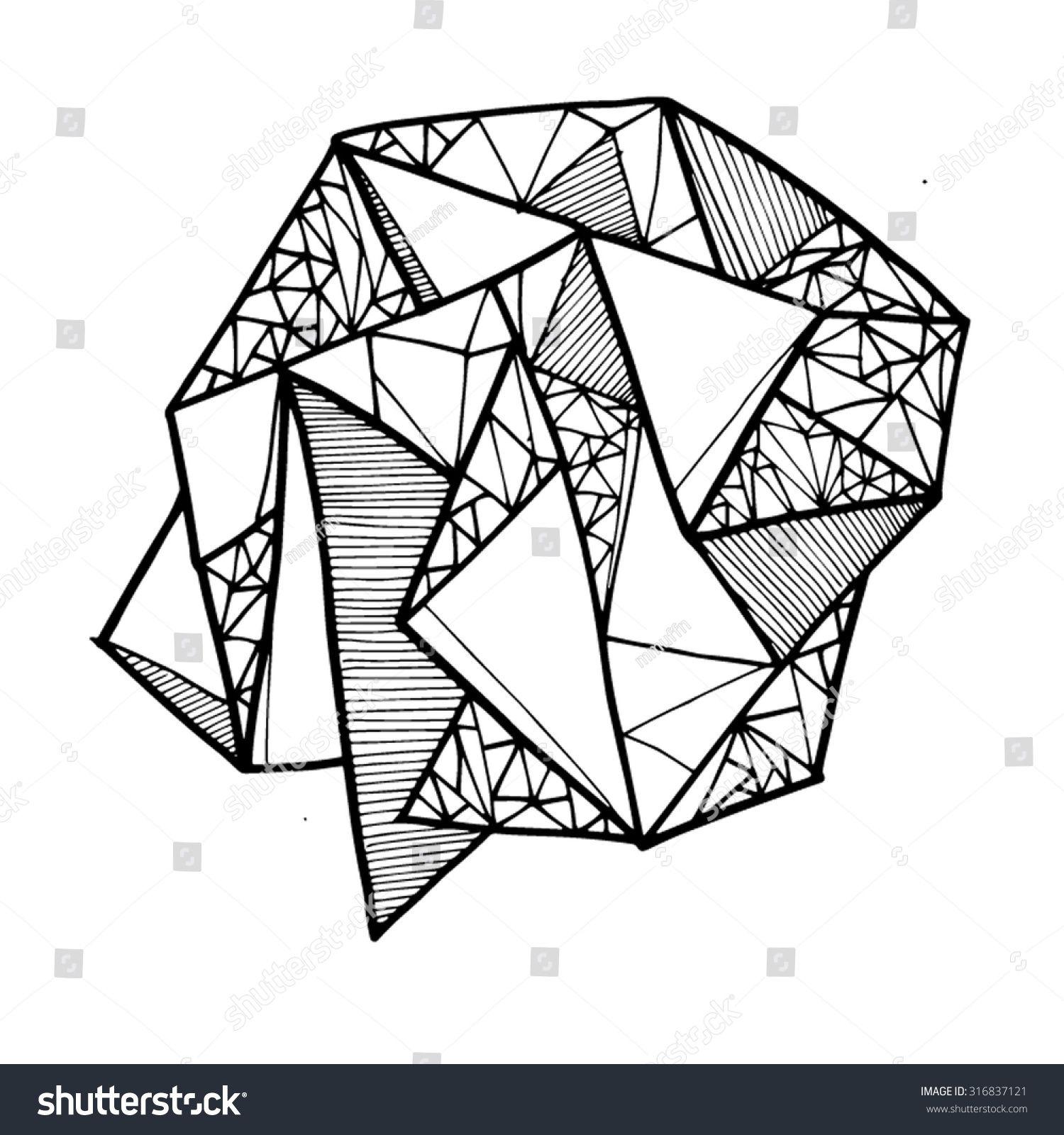 Geometric Shape Lines Lineart Shapes Line Art Arts