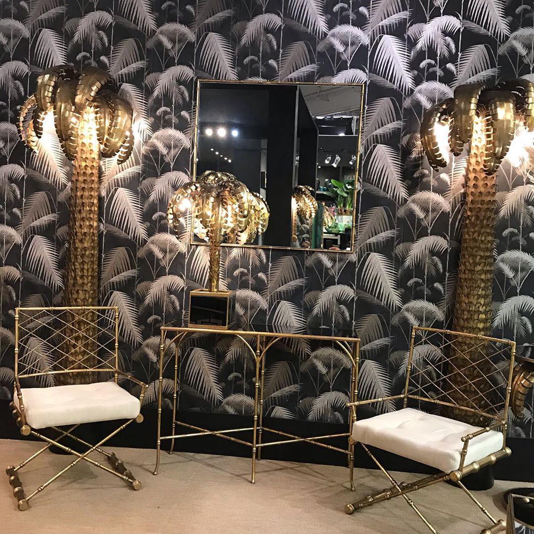 First day!!!! #maisonetobjet #paris #decorationinterieur #design #homedecor #homedesign #chic #luxury #palmlamp #light