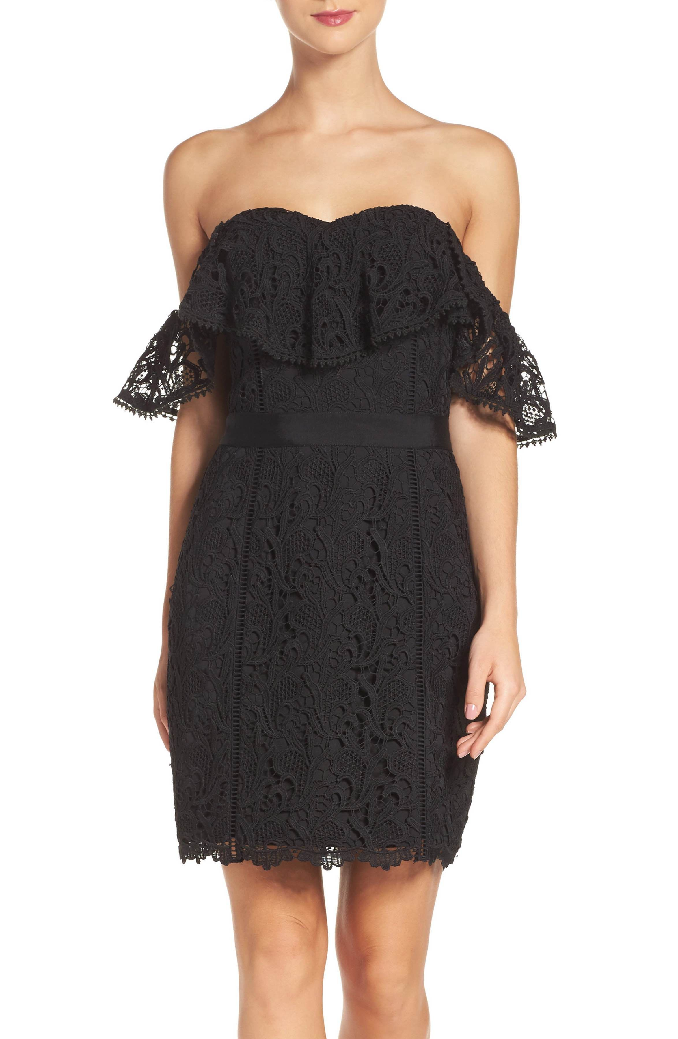 3294208d Main Image - Adelyn Rae Strapless Lace Dress | clothes/beauty ...