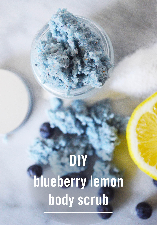 DIY Blueberry Lemon Body Scrub   Rezept   Selbstgemacht, Akne ...