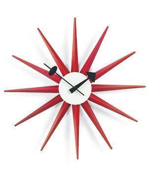 Mid-Century Vitra Sunburst clock by George Nelson
