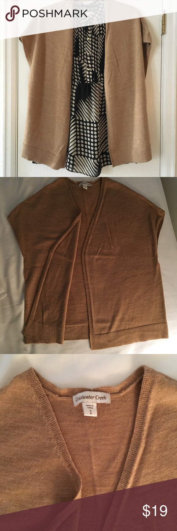 20% off 2+! Wool blend sweater Wool blend camel color sweater wrap, perfect for fall weather. 20% off when you bundle with another item. Coldwater Creek Sweaters Cardigans