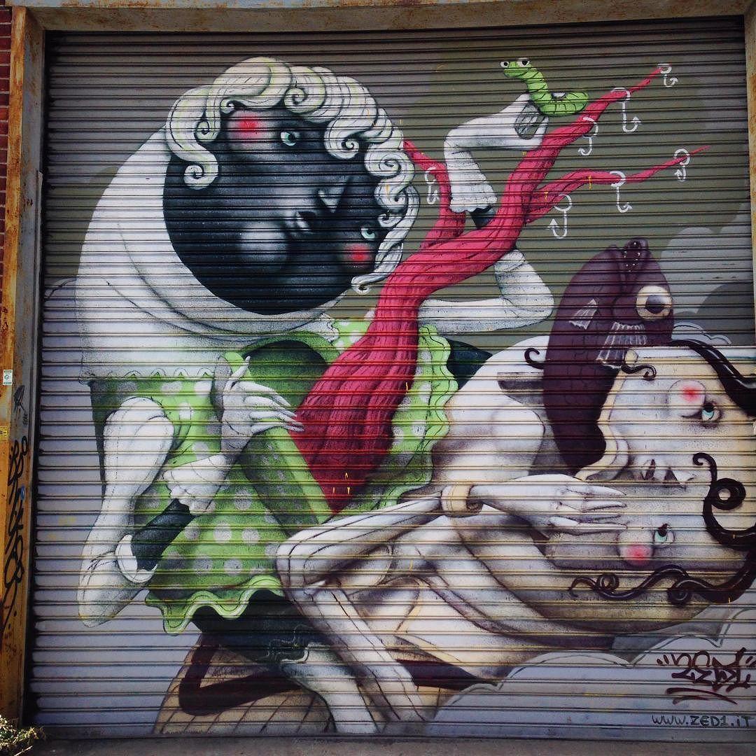 "toris64: ""Work by @zed1_marco in #WellingCourt #Queens #NewYork #Streetart #Zed1 #StreetartNewYork #NewYorkStreetart"""